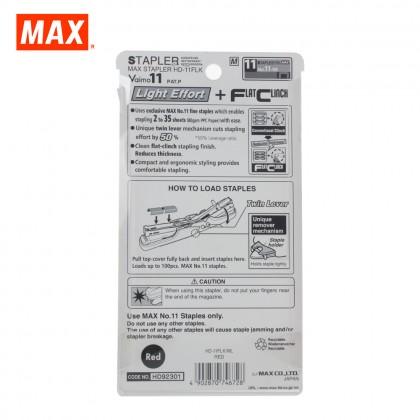 MAX HD-11FLK Stapler (VAIMO11 FLAT) (RED)
