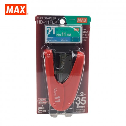 MAX HD-11FLK Stapler (VAIMO11 FLAT) (RED)