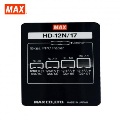 MAX HD-12N/17 Heavy Duty Stapler