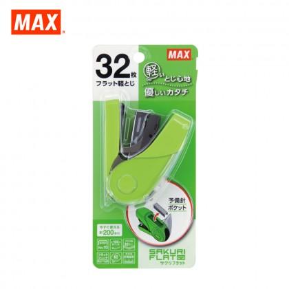 MAX HD-10FL3K Stapler (SAKURI FLAT) (GREEN)