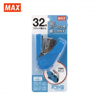 MAX HD-10FL3K Stapler (SAKURI FLAT) (BLUE)