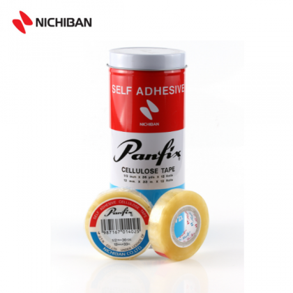 Nichiban Panfix Cellulose Tape - 12MM x 36YDS (12PCS)