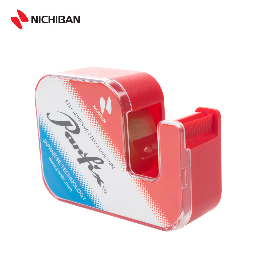 Nichiban Panfix New Tape Dispenser (PXU1-19DR) (Red)