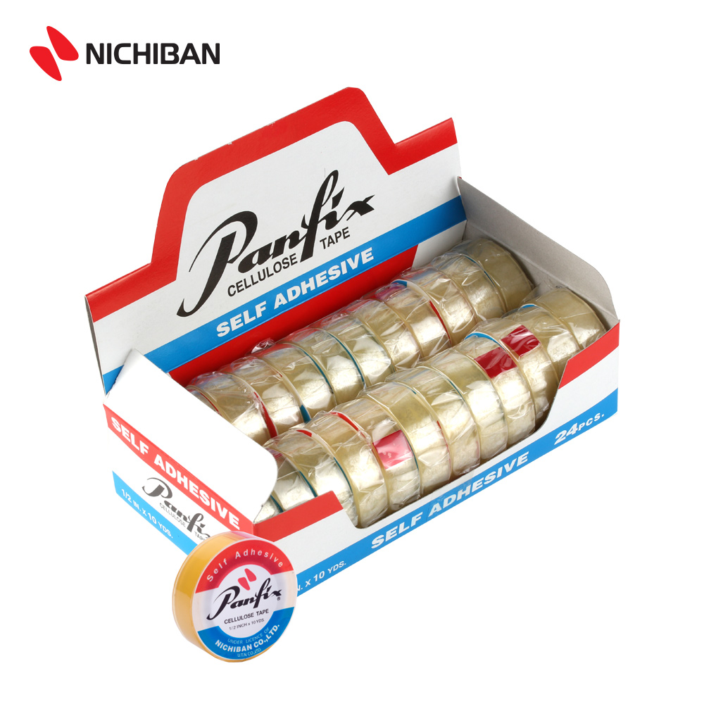 Nichiban Panfix Cellulose Tape - 12MM x 10YDS (24PCS)